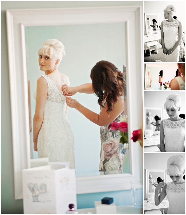 bridal prep almost done, a quick check in the mirror to reflect