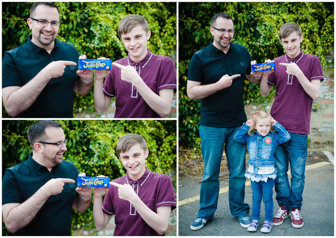 Jaffa cakes, fathers day shoot with Callum and Peter in Salisbury, Wiltshire
