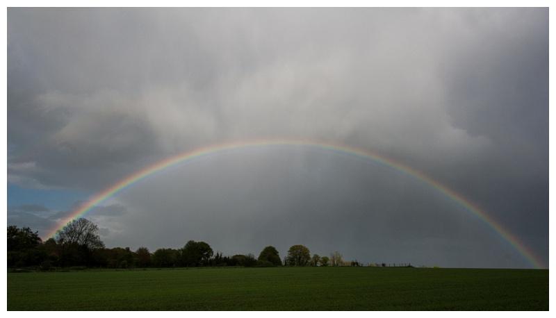 Rainbow in WIltshire by Salisbury photographer Barbara Leatham