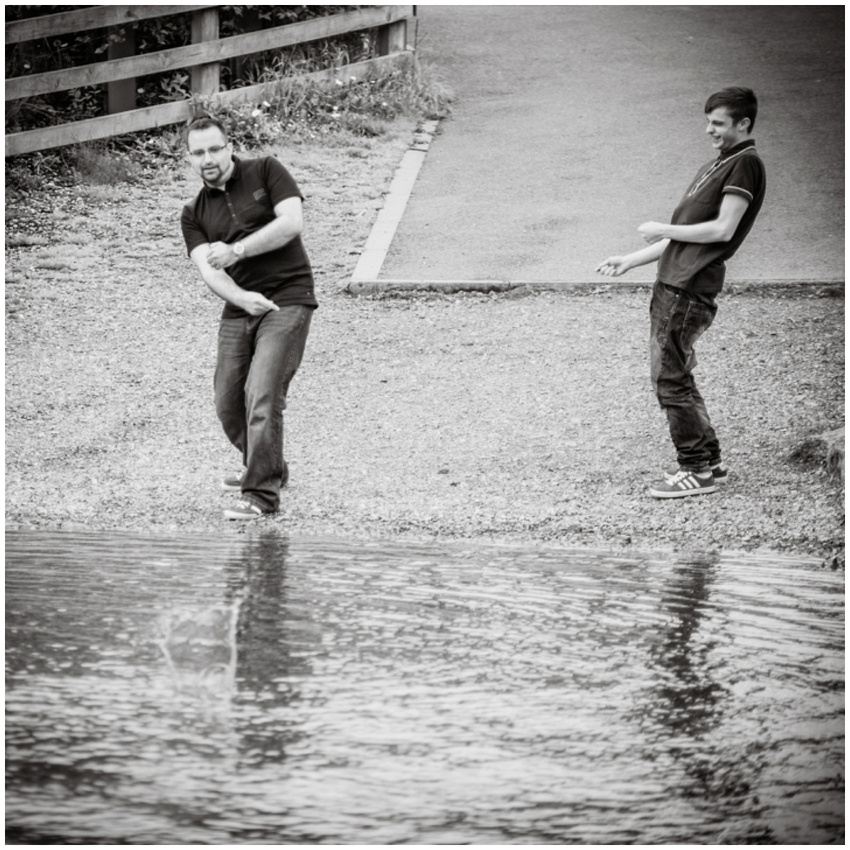 Competitive skimming with Callum and Peter at The Old Mill in Salisbury