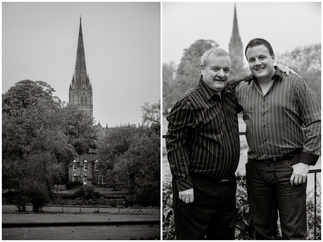 Trevor and Steve at the Grasmere Hotel in Salisbury, Wiltshire
