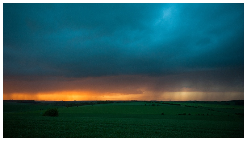 Storm clouds at sunset near Orcheston and Tilshead by WIltshire photographer Barbara Leatham