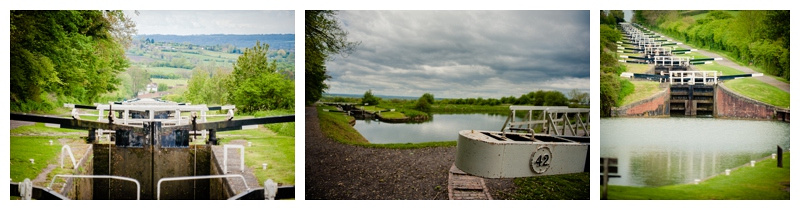 The locks on the Kennet and Avon canal in Devizes by Wiltshire wedding photographer Barbara Leatham